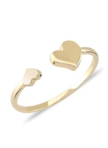 Piano Jewellery Cabaret Mini Kalpler Altın Yüzük 14 Ayar Altın